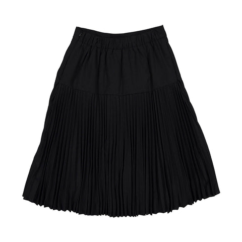 Ava and Lu Black Dropwaist Pleated Skirt