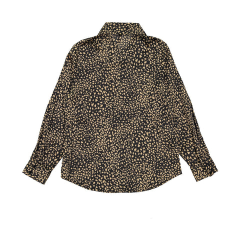 Ava and Lu Leopard Silk Blouse