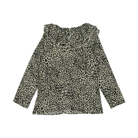 A4 Cream Leopard Blouse