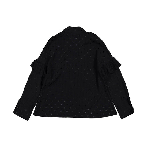 Ava and Lu Black Dot Blouse