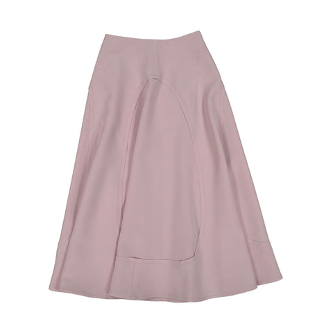 A4 Pink Open Seamed Midi Skirt