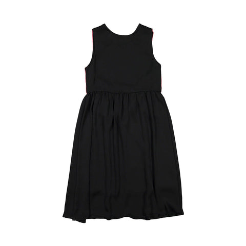 Ava and Lu Black Colorblock Silky Dress