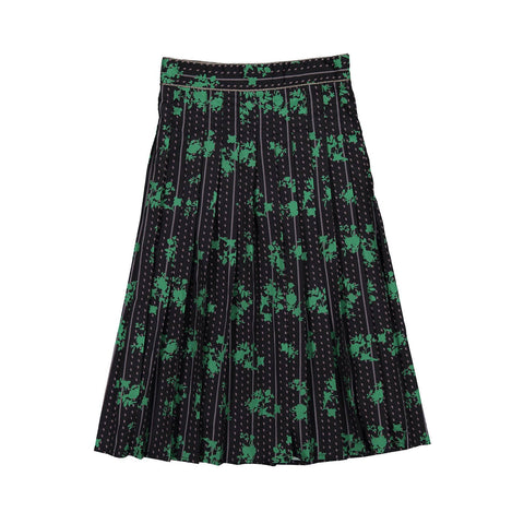 Ava and Lu Green Floral Pleated Skirt