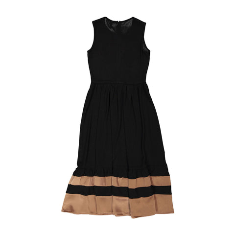 Ava and Lu Black Ribbed Trim Dress