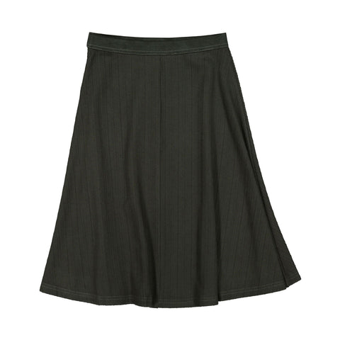Ava and Lu Khaki Narrow Ribbed Skirt