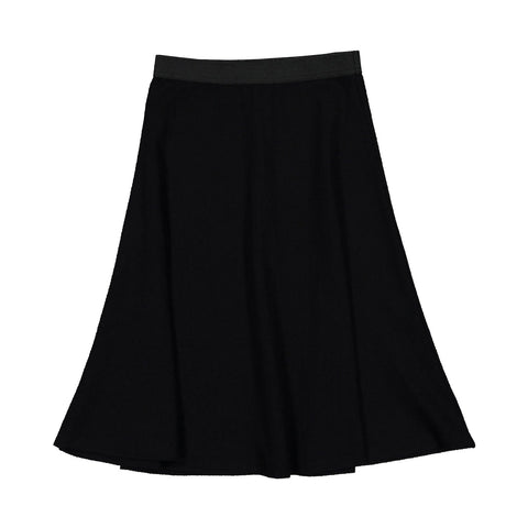Ava and Lu Black Narrow Ribbed Skirt
