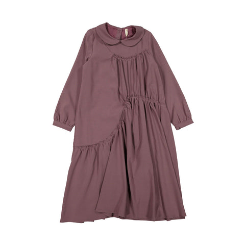 Ava and Lu Plum Seamed Collar Dress