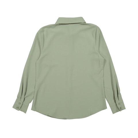 Ava and Lu Mint Collared Blouse