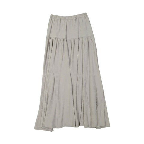 A4 Light Grey Dropwaist Maxi Skirt