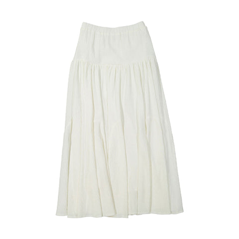A4 Cream Dropwaist Maxi Skirt