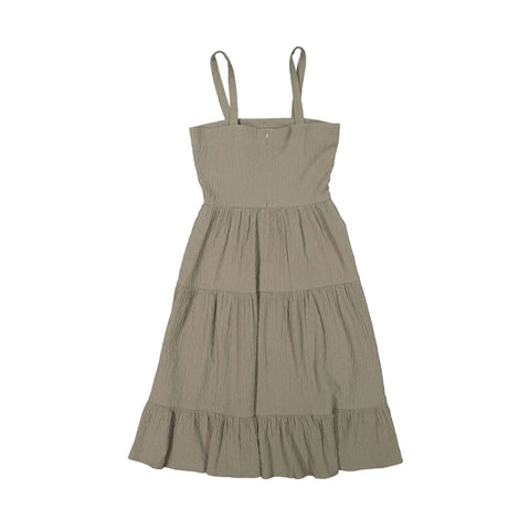 A4 Sand Crepe Tiered Sundress