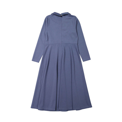 Ava and Lu Blue Double Breasted Collar Dress