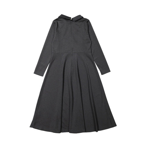 Ava and Lu Black Double Breasted Collar Dress