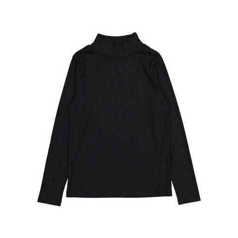 Ava and Lu Black Thin Rib Turtleneck