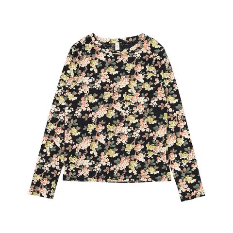 Ava and Lu Pink Floral Jersey Top