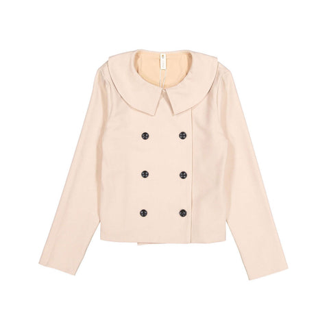 Ava and Lu Pink Double Breasted Collar Blazer