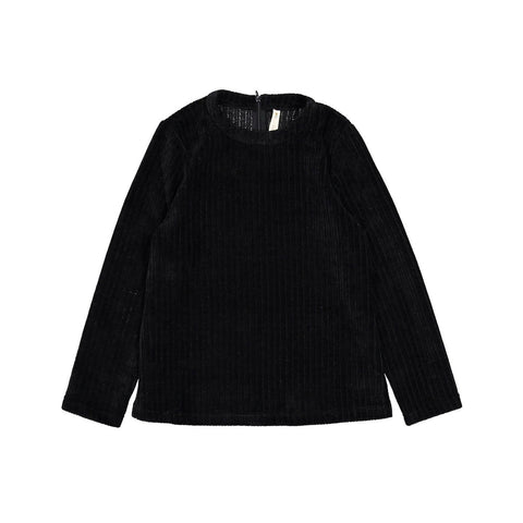 Ava and Lu Black Chenille Sweater