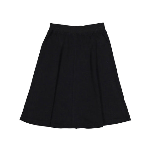Ava and Lu Black Felt Flair Skirt