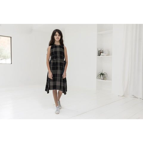 Ava and Lu Black Soft Plaid Waisted Jumper