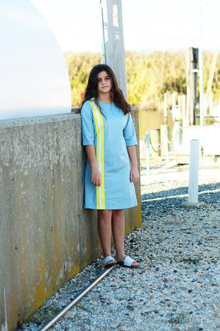 Ava & Lu The Rigging Yellow Stripe Dress
