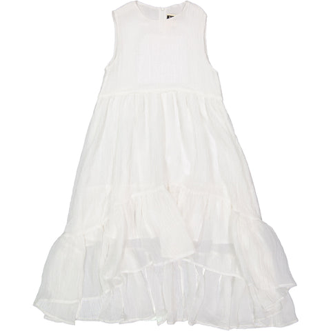 A4 White Tiered Maxi Dress