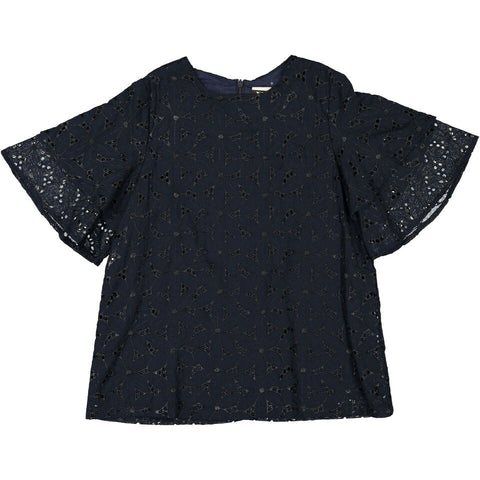 A4 Black Embroidered Top
