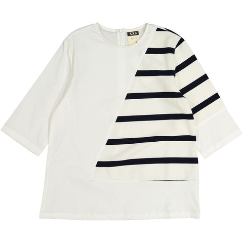 A4 White/Stripe top