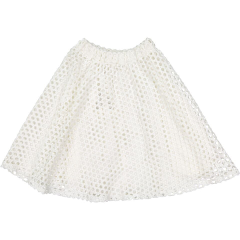 A4 White Thick Mesh Skirt
