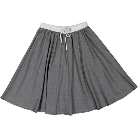 A4 Grey Chambray Circle Skirt
