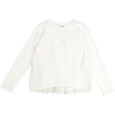 A4 White Accordion Pleated Top