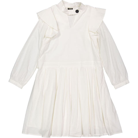 A4 White Pleated Dress
