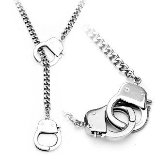Stainless Steel Hand Cuff Necklace - 22 inch