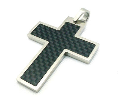 Stainless Steel Unique Cross Pendant - Large