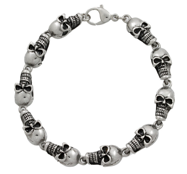 Men's Stainless Steel 85 Skull Bracelet - 8.5 inch
