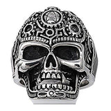 Stainless Steel Voodoo Skull Ring