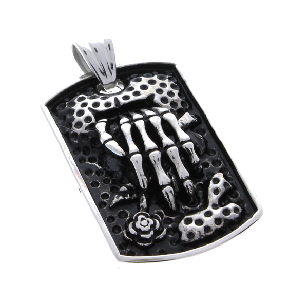 Stainless Steel Grave Skeleton Hand Pendant