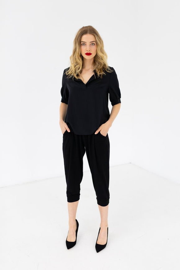 STAPLE + CLOTH  Frequent Flyer Crop Pant
