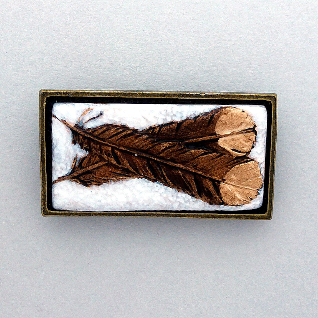 Huia Feathers Brooch/Pin
