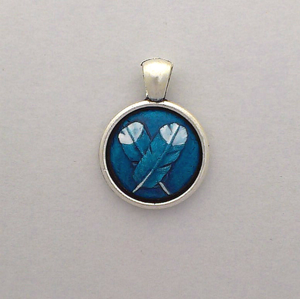 Crossed Huia Small Pendant
