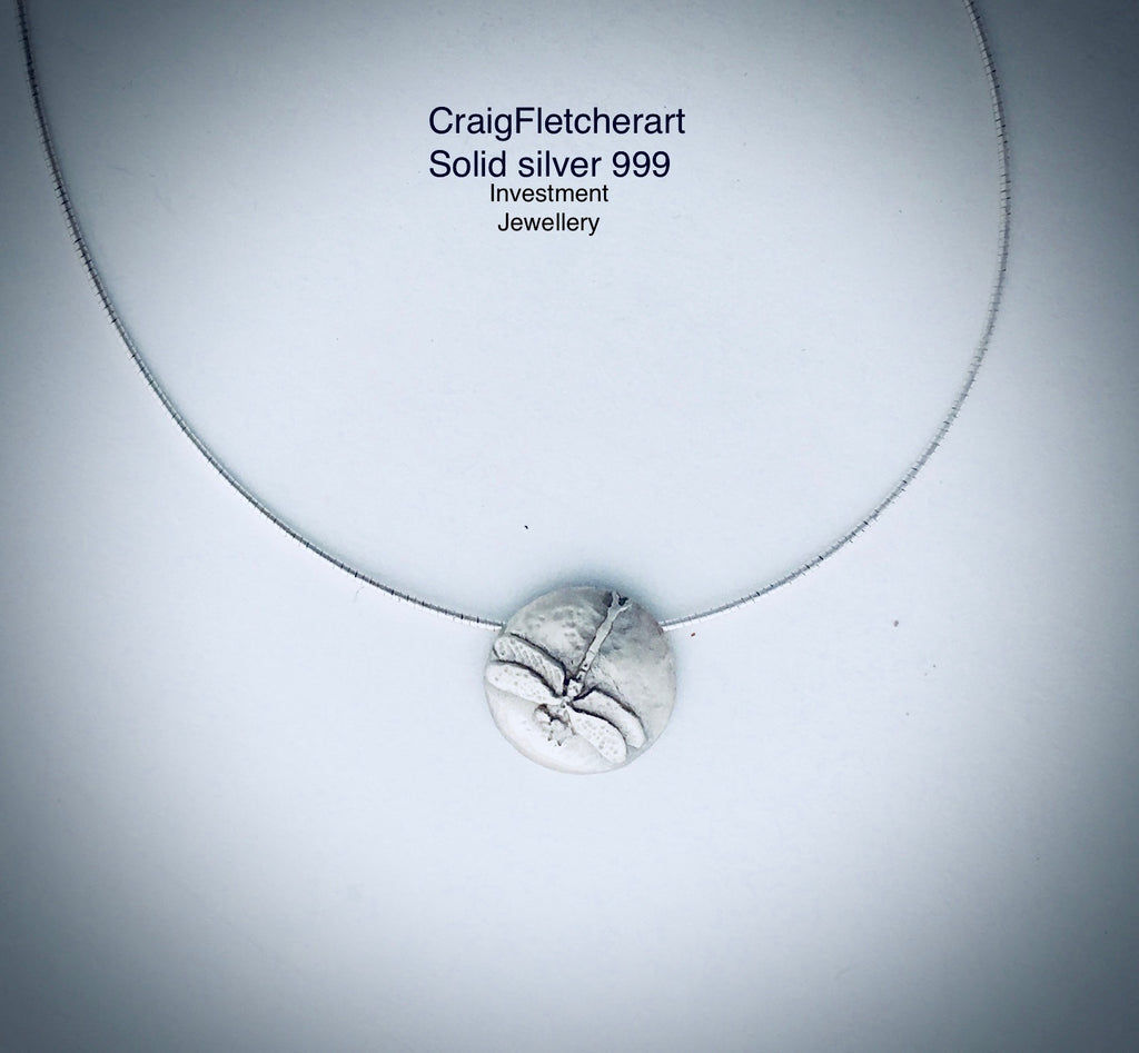 Pure Silver JewelleryDamselfly Pendant By Craig Fletcher
