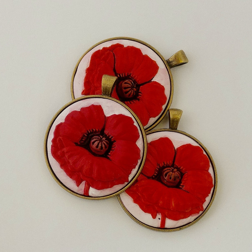 Poppy, Lest We Forget Pendant