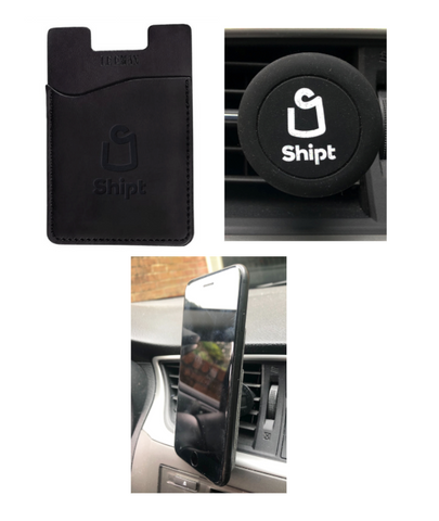 Magnetic Phone Wallet Car Mount