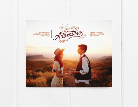 Adventure Save The Date Magnet