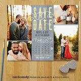 Rustic Wedding Calendar Save The Date Magnet