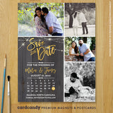 Rustic Gold Calendar Save The Date Magnet