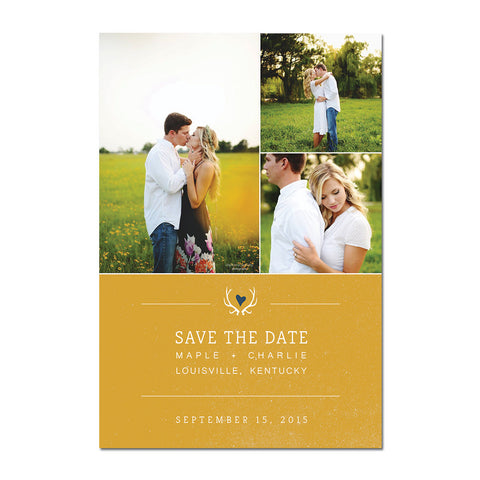 Antlers Save The Date Magnet
