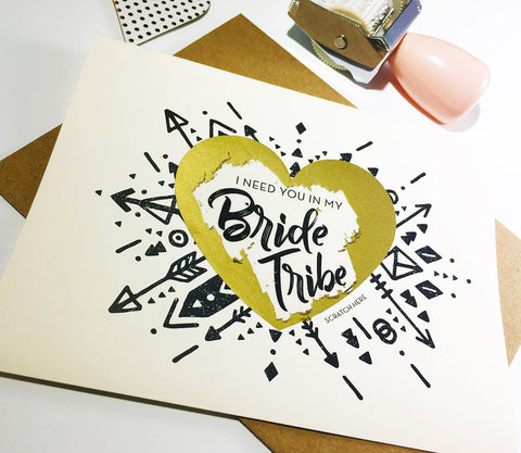 Scratch off Bride Tribe Card - GBM16