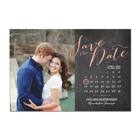 Calendar Bombshell Save The Date Magnet