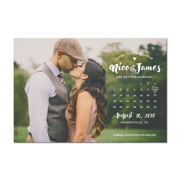 Calendar Nico Save The Date Magnet