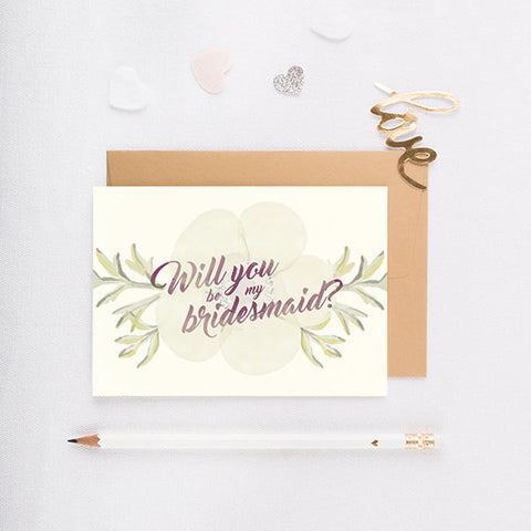 Dogwood - Will You Be My Bridesmaid Card